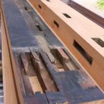 大黒柱のリユース テーブル板作り その2